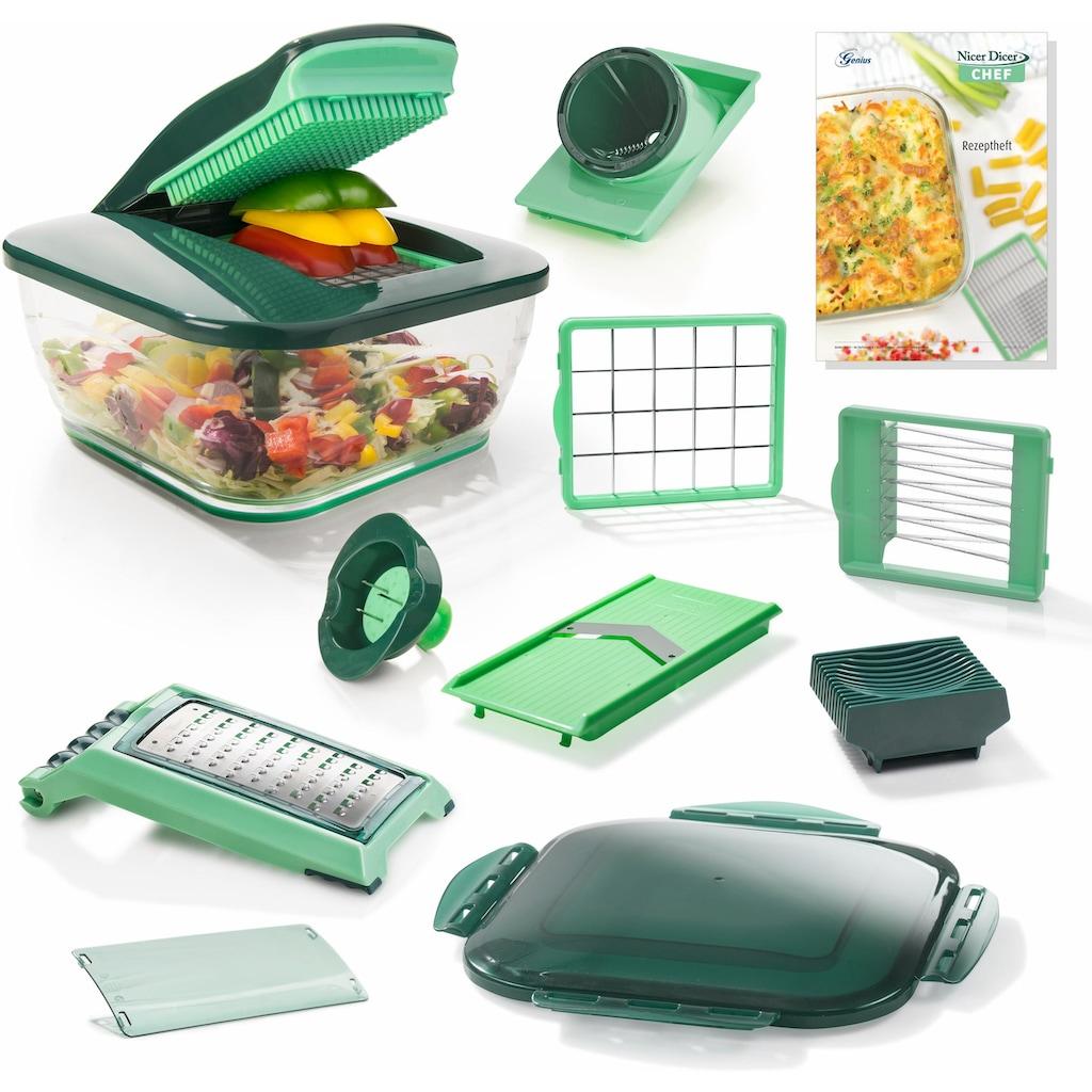 Genius Zerkleinerer »Nicer Dicer Chef«, 3300 ml Kunststoff-Auffangbehälter, 15-teilig