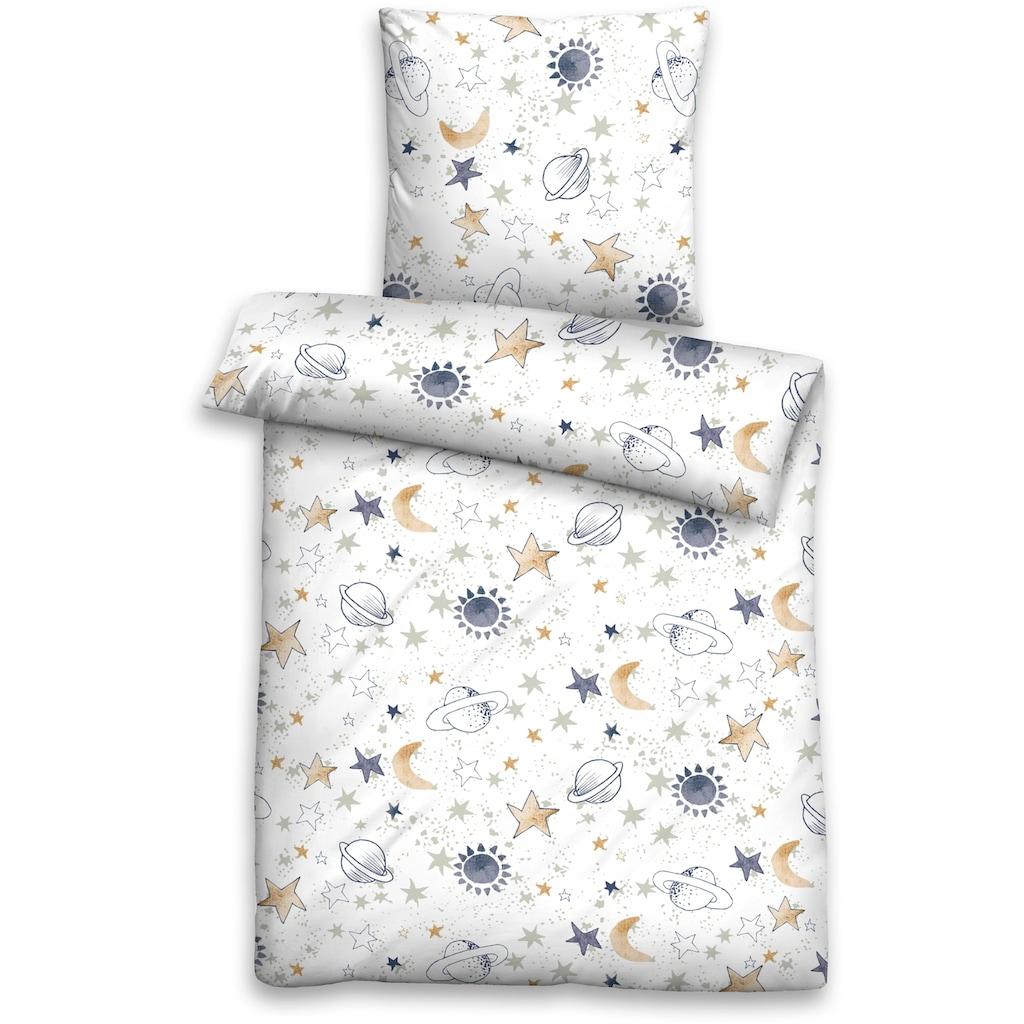 Biberna Kinderbettwäsche »Helena«, mit tollen Sternen
