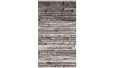 BODENMEISTER Fototapete »3d Effekt Holzwand Vintage grau«, Rolle 2,80x1,59m kaufen