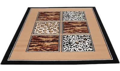 Living Line Teppich »Safariwelt Mix«, rechteckig, 7 mm Höhe, Kurzflor, Wohnzimmer kaufen