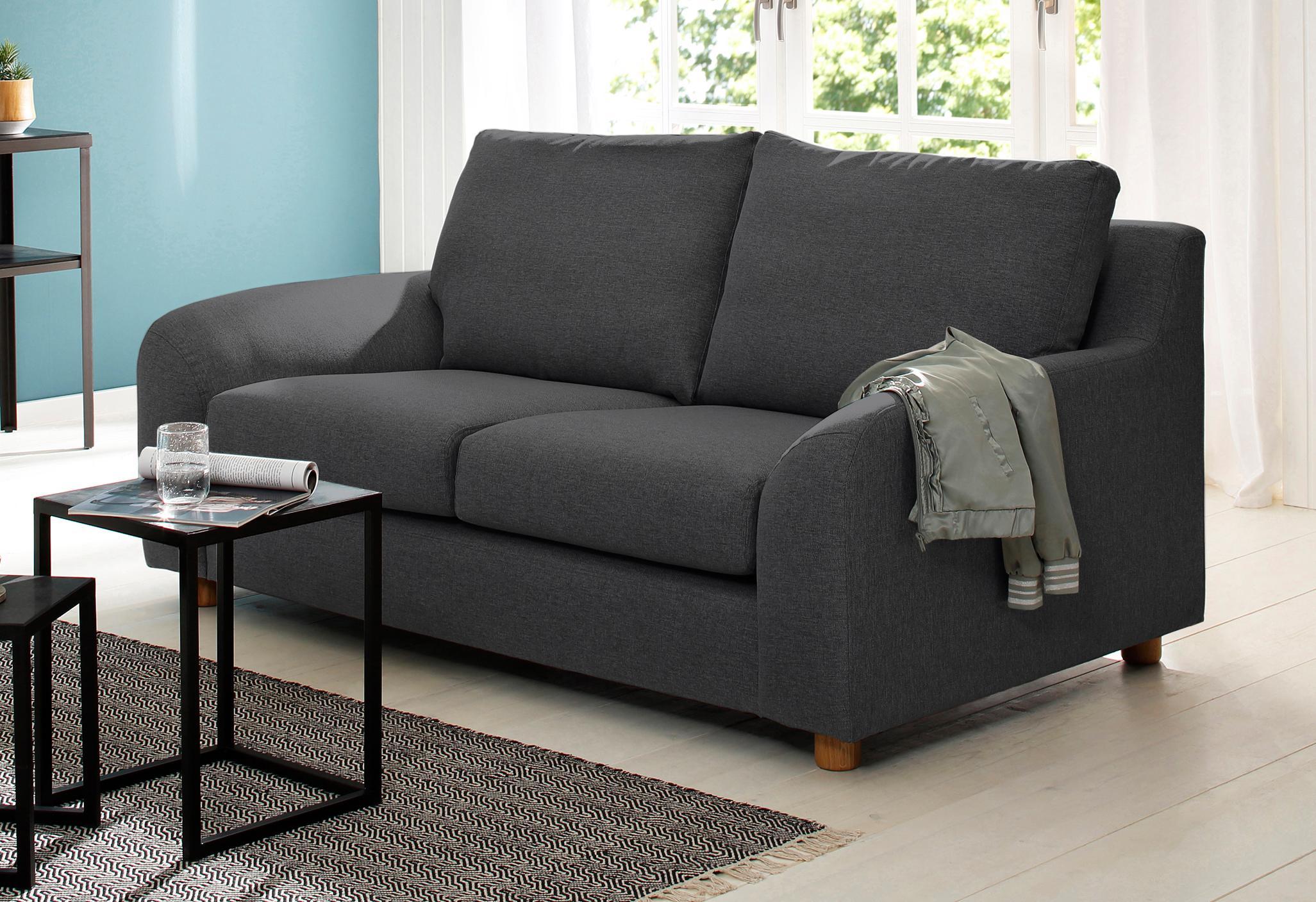 Home affaire 2-Sitzer »Kolding« im nordischen Stil, mit losen Kissen und Holzbeinen