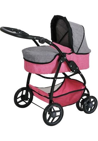 Knorrtoys® Puppenwagen »Coco - jeans grey«, 2-in-1 kaufen