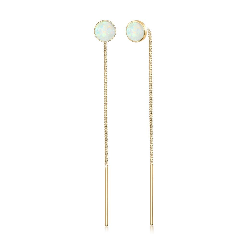 Elli Paar Ohrhänger »Hänger Opal Trend Durchziehen Minimal 925 Silber«