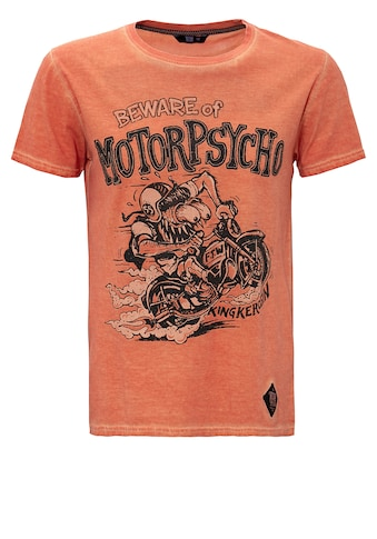 KingKerosin Print-Shirt »Motorpsycho«, im Used Look kaufen