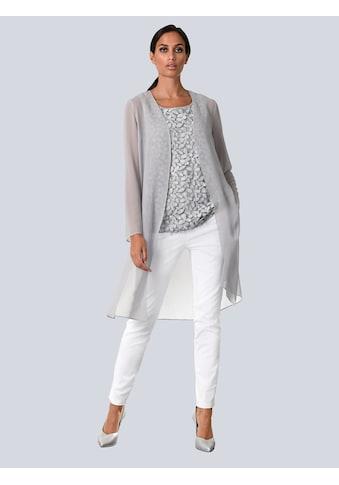 Alba Moda Bluse in offener Form kaufen