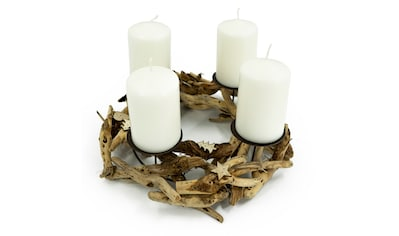 NOOR LIVING Adventskranz »Rustika«, Ø 30 cm, für 4 Stumpenkerzen, Weihnachtsdekoration kaufen