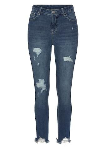 Buffalo Destroyed-Jeans, mit ausgefranstem Beinabschluss kaufen