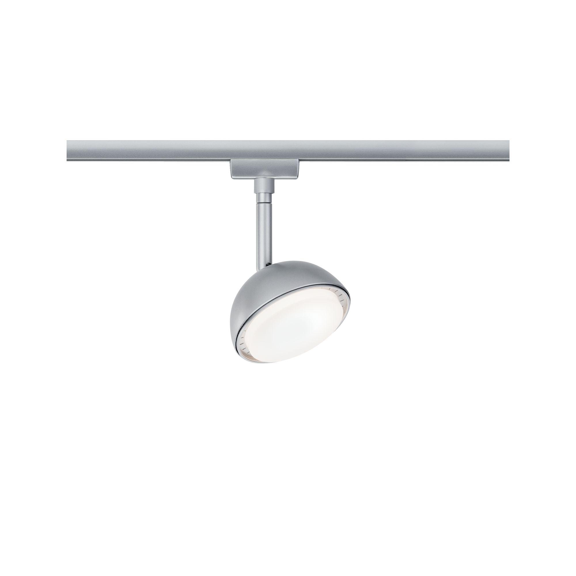 Paulmann LED Deckenleuchte URail LED Spot Hemi Chrom Matt 230V Metall/Kunststoff, 1 St., Warmweiß