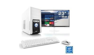 "CSL Office PC Set   Intel QuadCore   Intel HD   4 GB RAM   23"" TFT »Speed T1115 Windows 10 Home« kaufen"