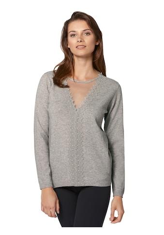 Alessa W. Pullover mit transparentem Mesh - Einsatz kaufen
