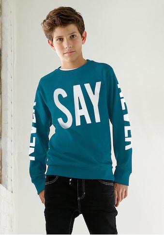 Arizona Sweatshirt »NEVER SAY NEVER« kaufen