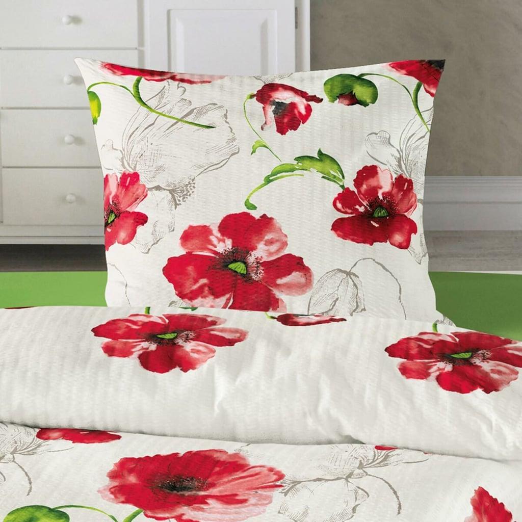 TRAUMSCHLAF Bettwäsche »Mohnblume«, bügelfreie Sommerbettwäsche