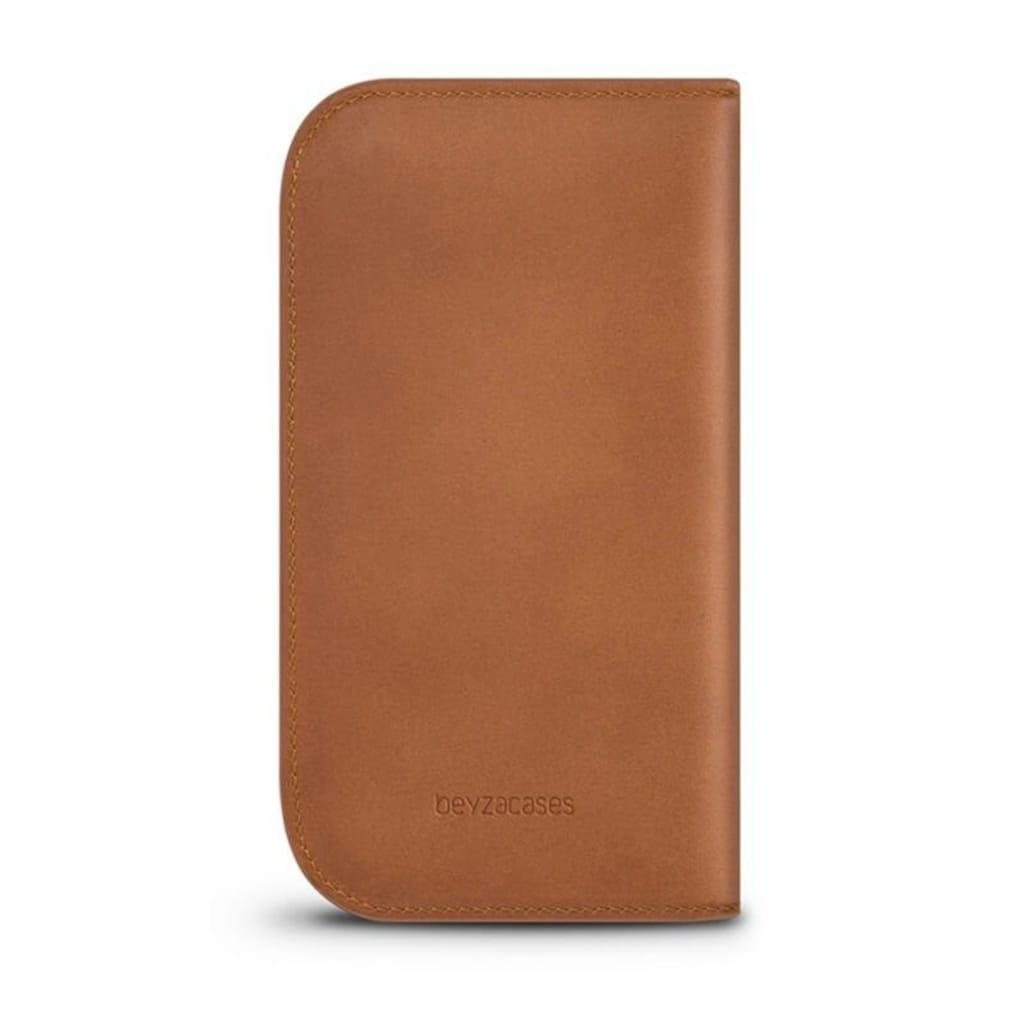 Beyzacases Wallet aus natürlichem Kernleder mit Steckfächern
