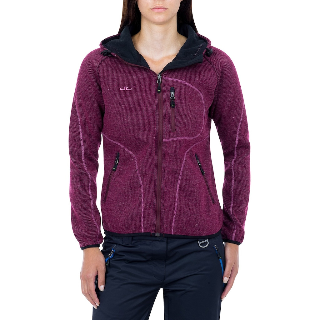 Jeff Green Strickfleecejacke »Sligo«, 42% Schurwollanteil