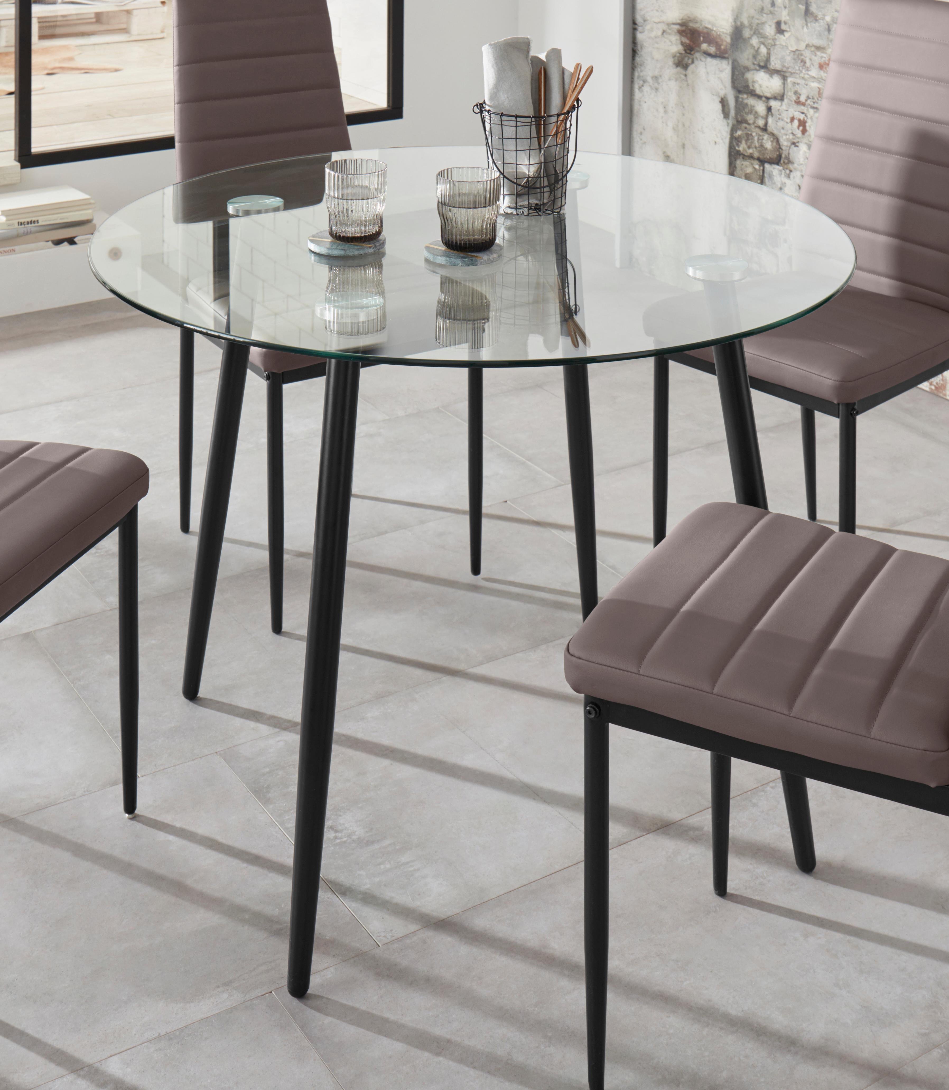 esstisch danny rund breite 100 cm e rechteckig markenlos. Black Bedroom Furniture Sets. Home Design Ideas