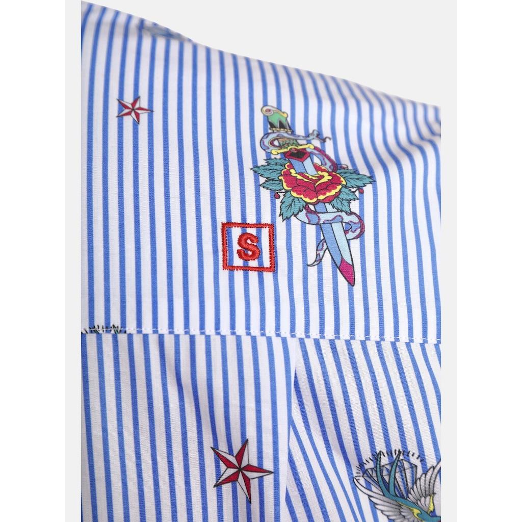 SHIRTMASTER Langarmhemd »tattooforyou«, Baumwollhemd, Regular Fit