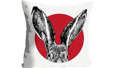 queence Kissenhülle »Knut«, (1 St.), mit einem Hasen im roten Kreis kaufen