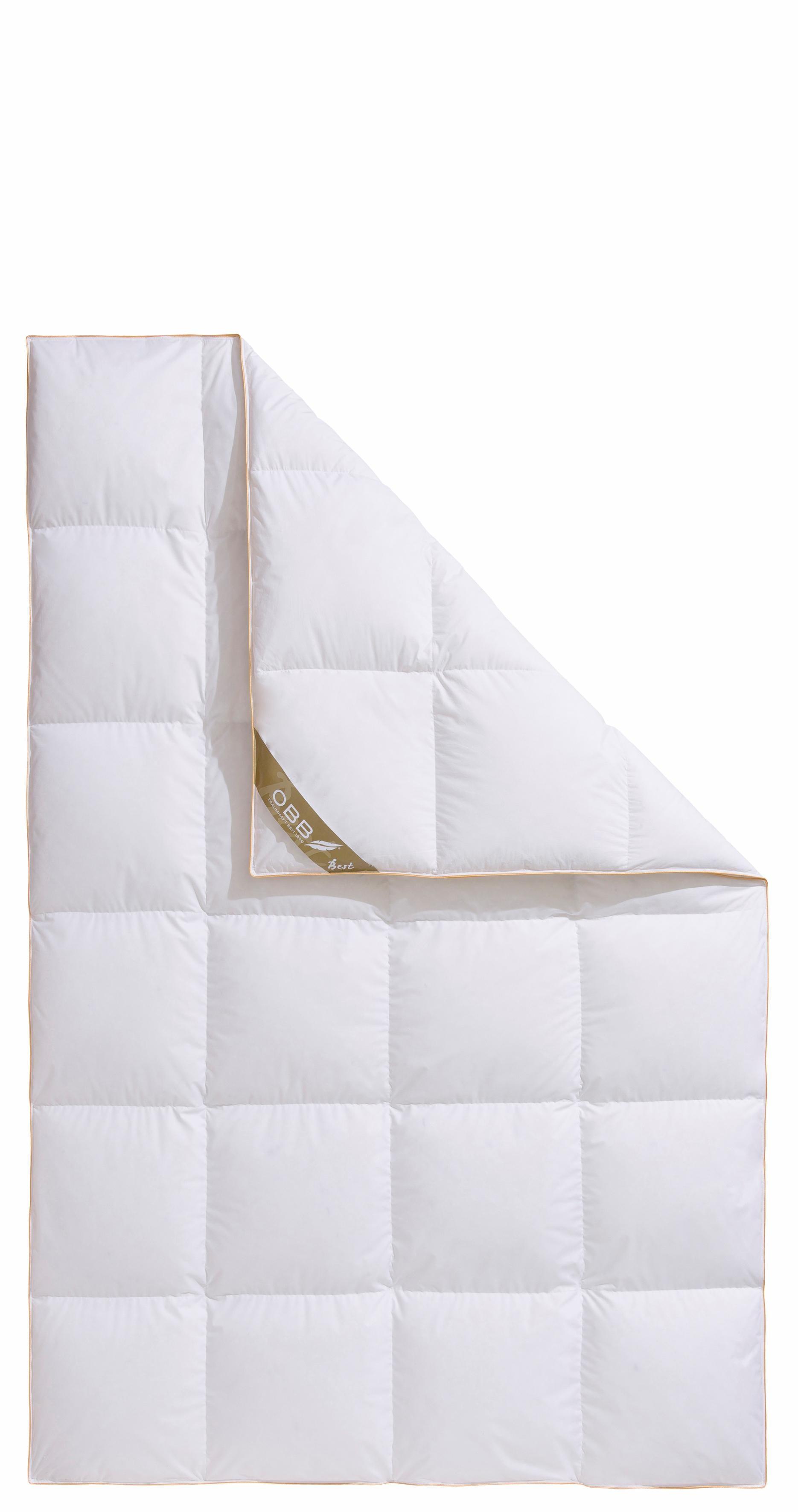 Daunenbettdecke Best OBB warm Füllung: 90% Daunen 10% Federn Bezug: 100% Baumwolle