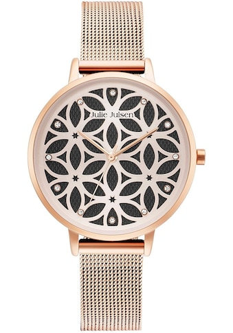 Julie Julsen Quarzuhr »FLOWER OF LIFE ROSÉ BLACK, JJW1235RGME« kaufen