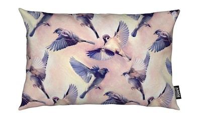 Juniqe Dekokissen »Sparrow Flight«, Weiches, allergikerfreundliches Material kaufen