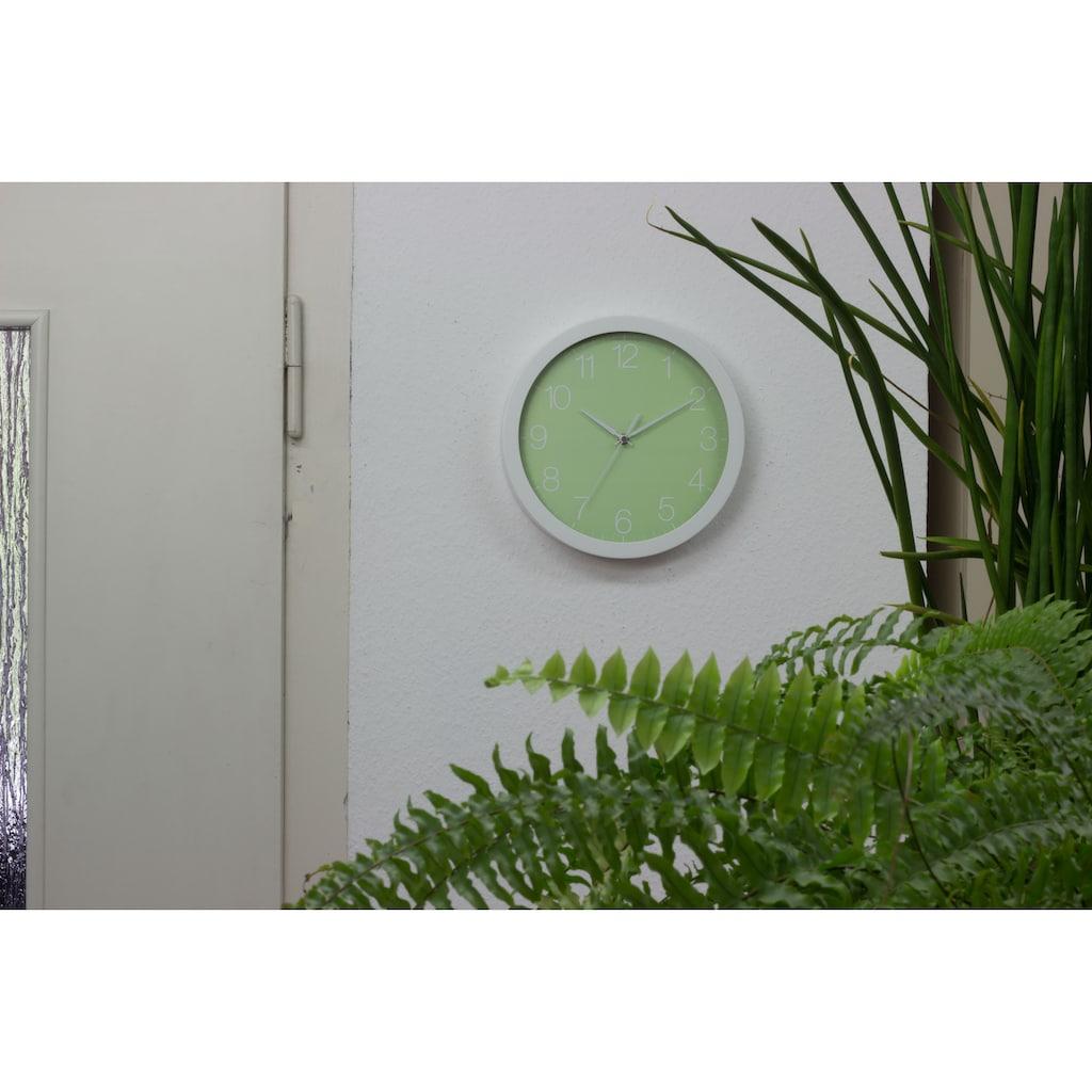EUROTIME Wanduhr »Trend Alu Pastell Grün, 86139-00-1«