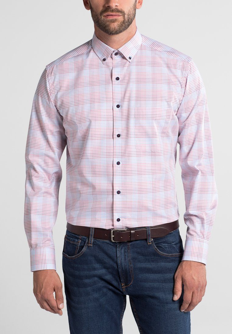 ETERNA Langarm Hemd »MODERN FIT« | Bekleidung > Hemden > Sonstige Hemden | Rot | Wo - Baumwolle | ETERNA