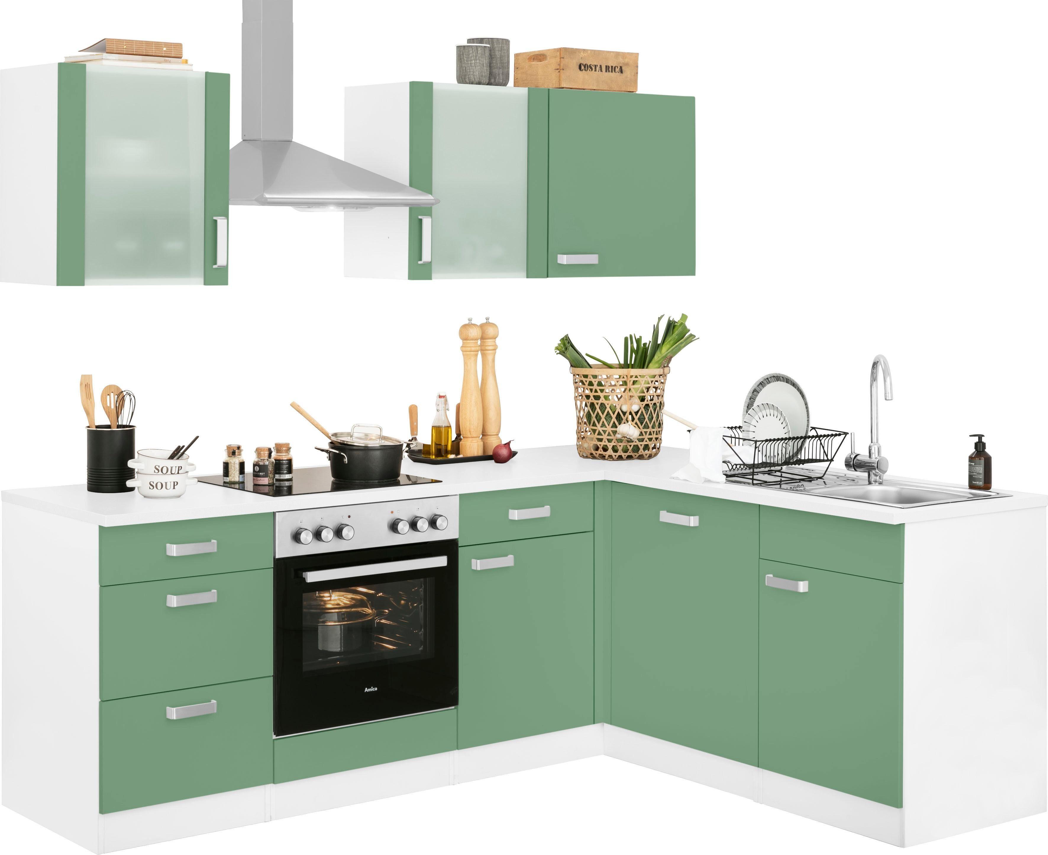 wiho Küchen Winkelküche Husum mit E-Geräten Stellbreite 220 x 170 cm