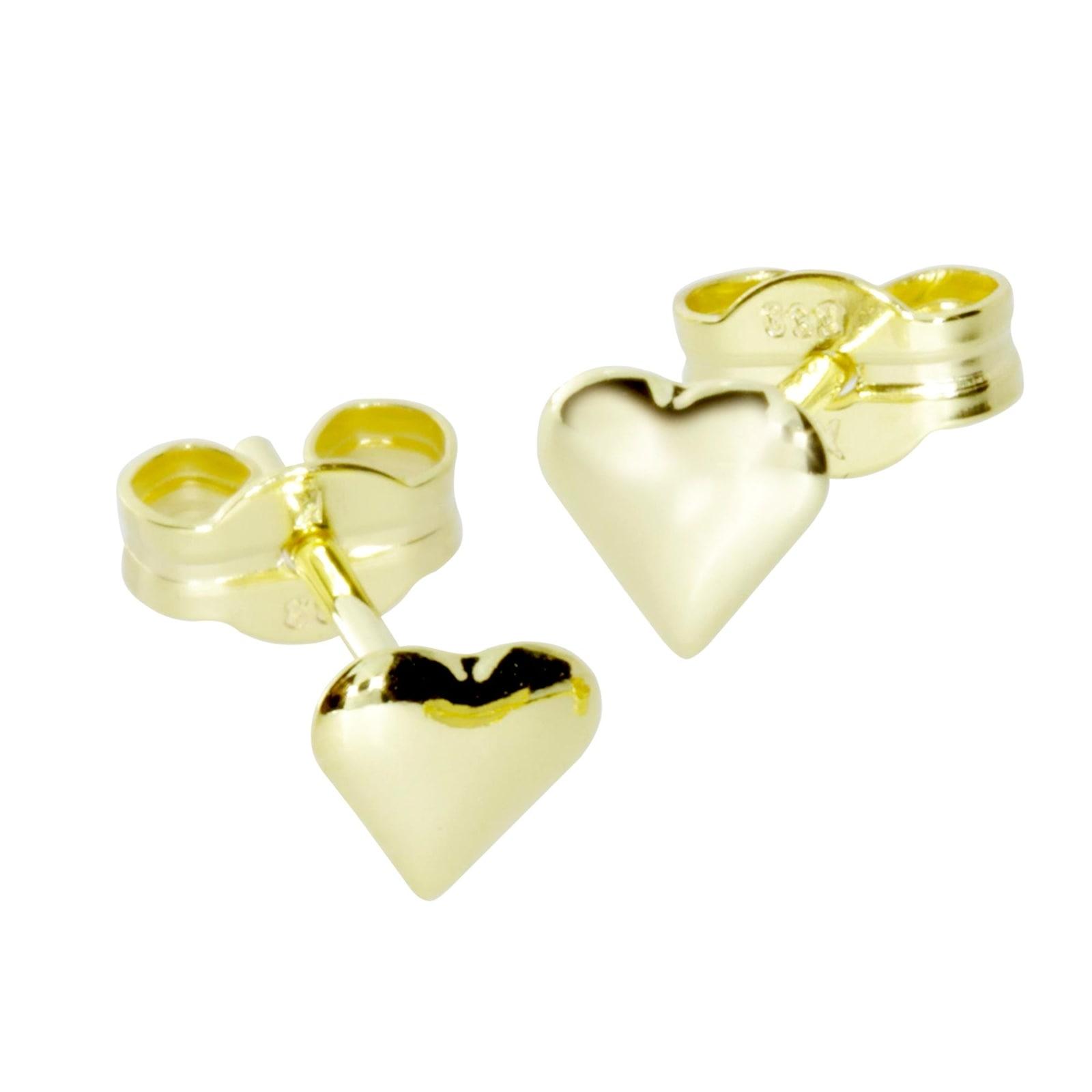 OSTSEE-SCHMUCK Paar Ohrstecker kleines Herz Gold 333/000 | Schmuck > Ohrschmuck & Ohrringe > Ohrstecker | Gelb | Ostsee-Schmuck