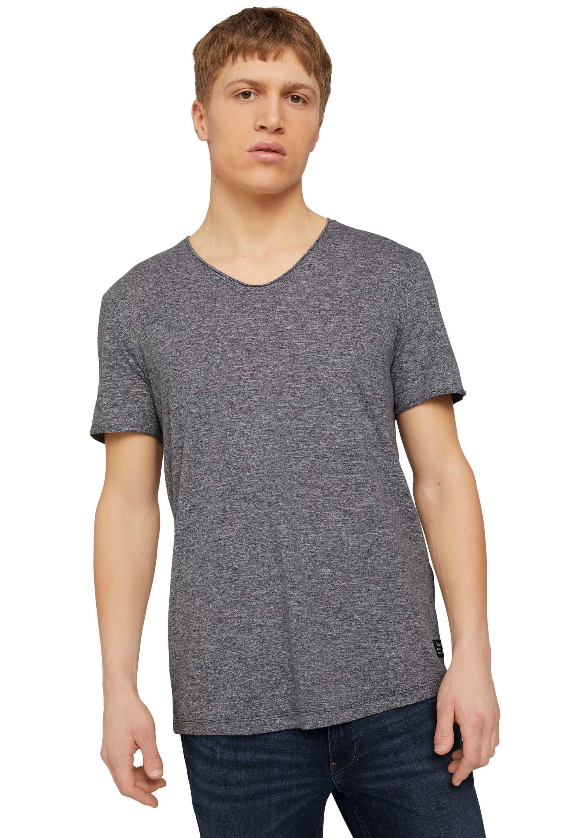 tom tailor denim -  T-Shirt, mit V-Ausschnitt