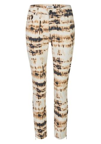 ANGELS Jeans,Skinny Ankle Zip' mit modischem Batik-Muster kaufen