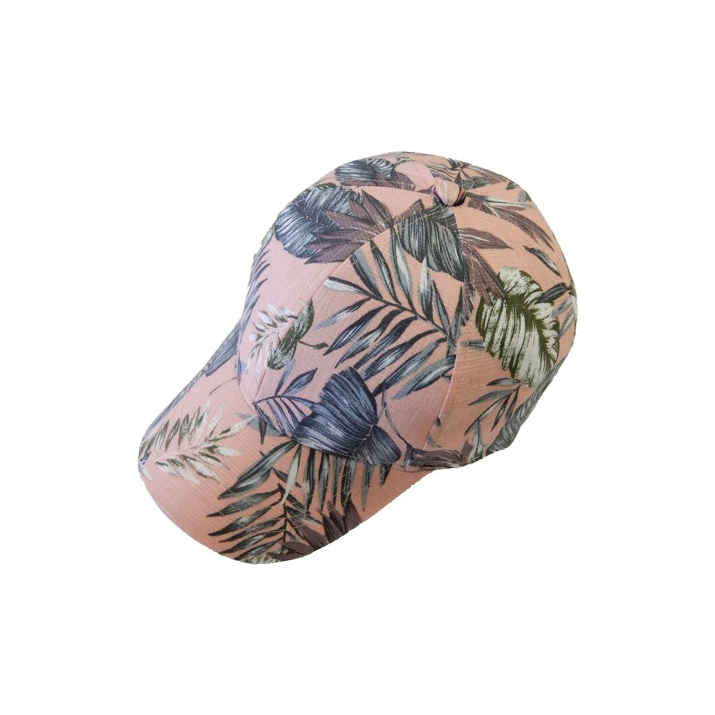 Chaplino Baseball Cap, mit tollem Blätter-Print