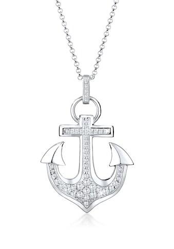 Elli Collierkettchen »Anker Hafen Zirkonia 925 Sterling Silber« kaufen
