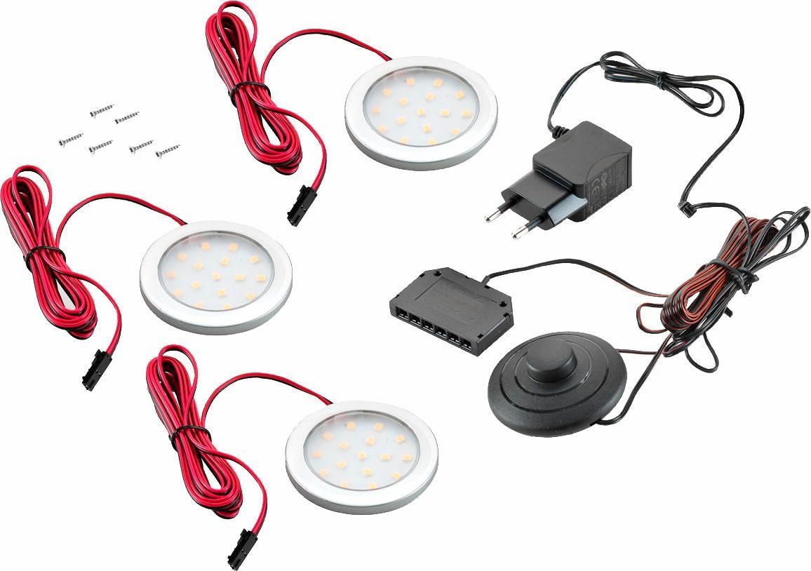 LED Unterbauleuchte LED Spot, LED-Board, 3 St., Warmweiß, 1er- 2er und 3er Set