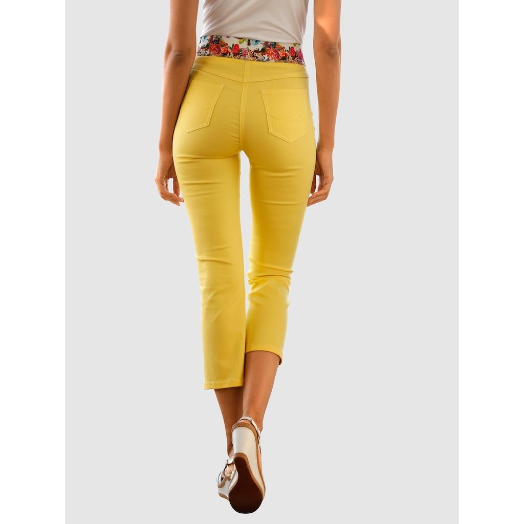 Laura Kent 7/8 Jeans Lotta mit dekorativem Gummibund
