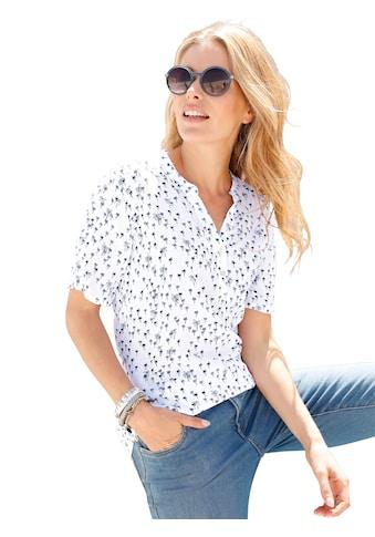 Classic Inspirationen Bluse mit sommerlichen Palmendruck kaufen