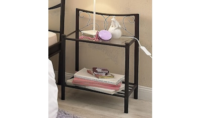 Home affaire Nachttisch »Princess«, aus einem schönen Metallgestell, mit besonders schönen romantischen Verzierungen kaufen