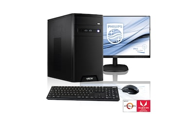 "Hyrican PC Athlon 200GE, AMD Radeon Vega 3, 8GB RAM + 61 cm (24"") TFT »Home - Office SET1778« kaufen"