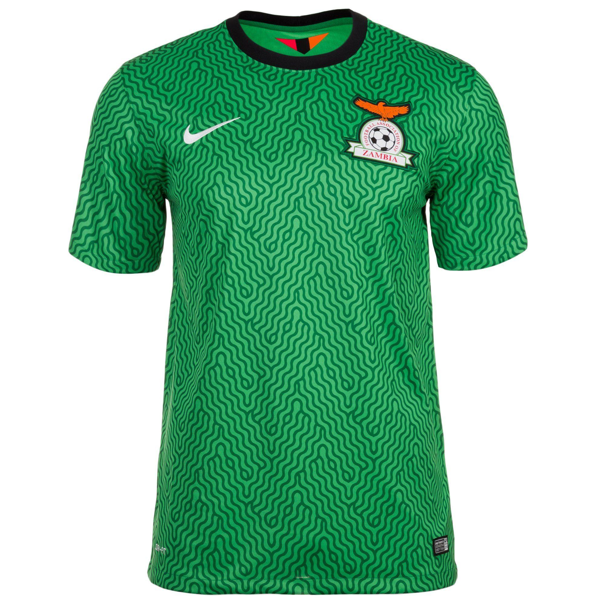 Nike Fußballtrikot Sambia 14/15 Heim   Sportbekleidung > Trikots > Fußballtrikots   Grün   Nike
