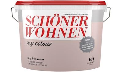 SCHÖNER WOHNEN FARBE Wand -  und Deckenfarbe »my colour  -  my blossom«, matt, 10 l kaufen