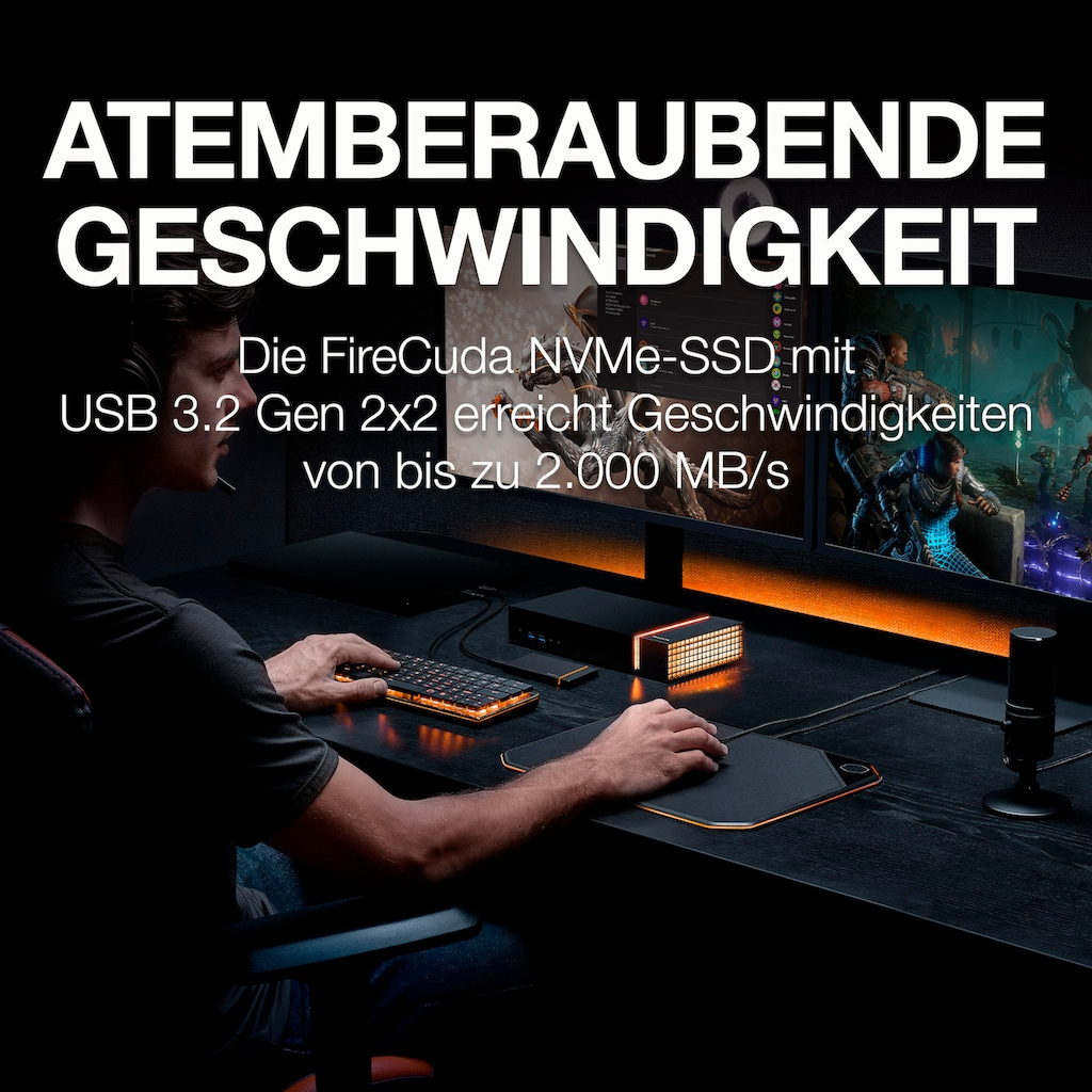 Seagate externe SSD »FireCuda Gaming SSD«, Inklusive 3 Jahre Rescue Data Recovery Services