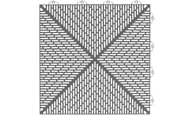 Bergo Flooring Terrassenplatten »Unique Steingrau«, Kunststofffliesen, einfach... kaufen