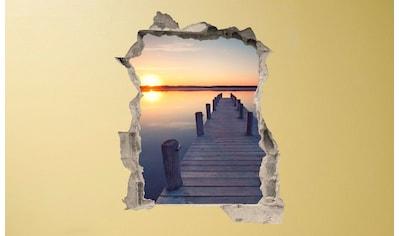 Conni Oberkircher´s Wandsticker »Bridge on the beach«, selbstklebend kaufen