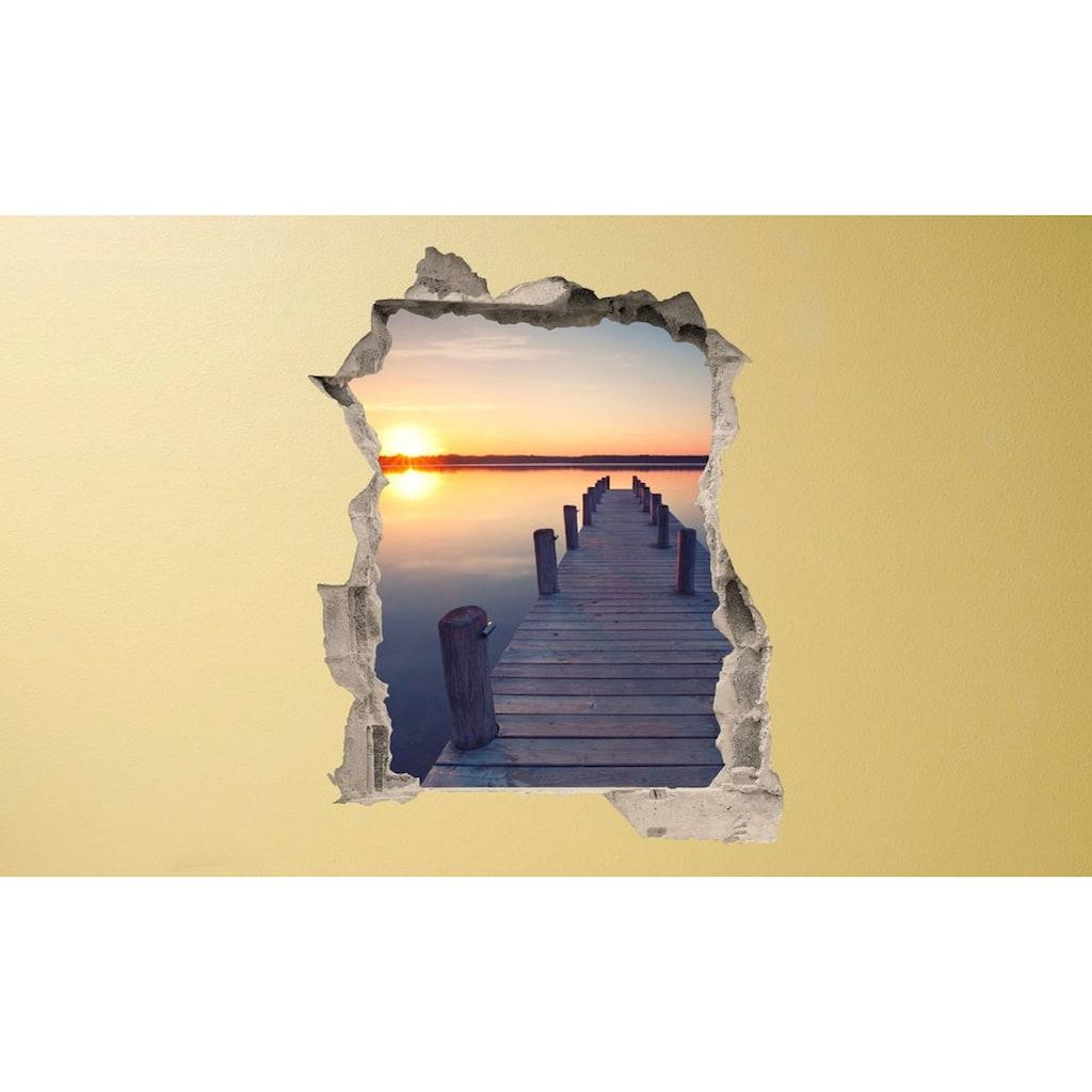 Conni Oberkircher´s Wandsticker »Bridge on the beach«, selbstklebend
