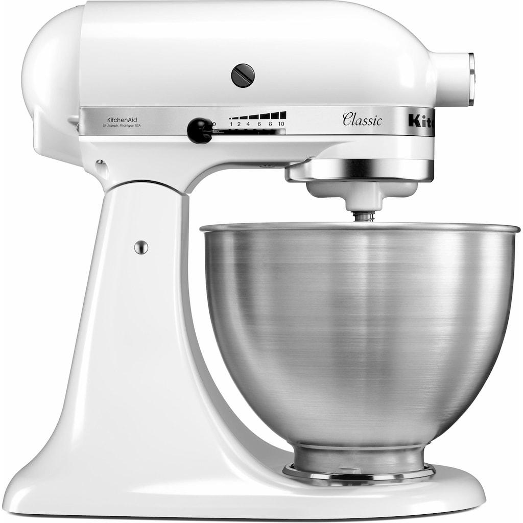 KitchenAid Küchenmaschine »Classic 5K45SS EWH«, 275 W, 4,3 l Schüssel, inkl. Zubehör im Wert von ca. 112,-€ UVP