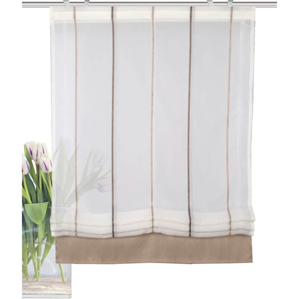 HOME WOHNIDEEN Raffrollo »PIRULI«, mit Klettband, freihängend, Effektvoile