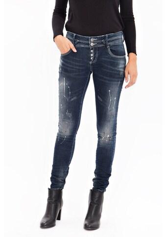 Blue Monkey Skinny-fit-Jeans »Sunny 1662«, mit Farb- und Abriebeffekten kaufen