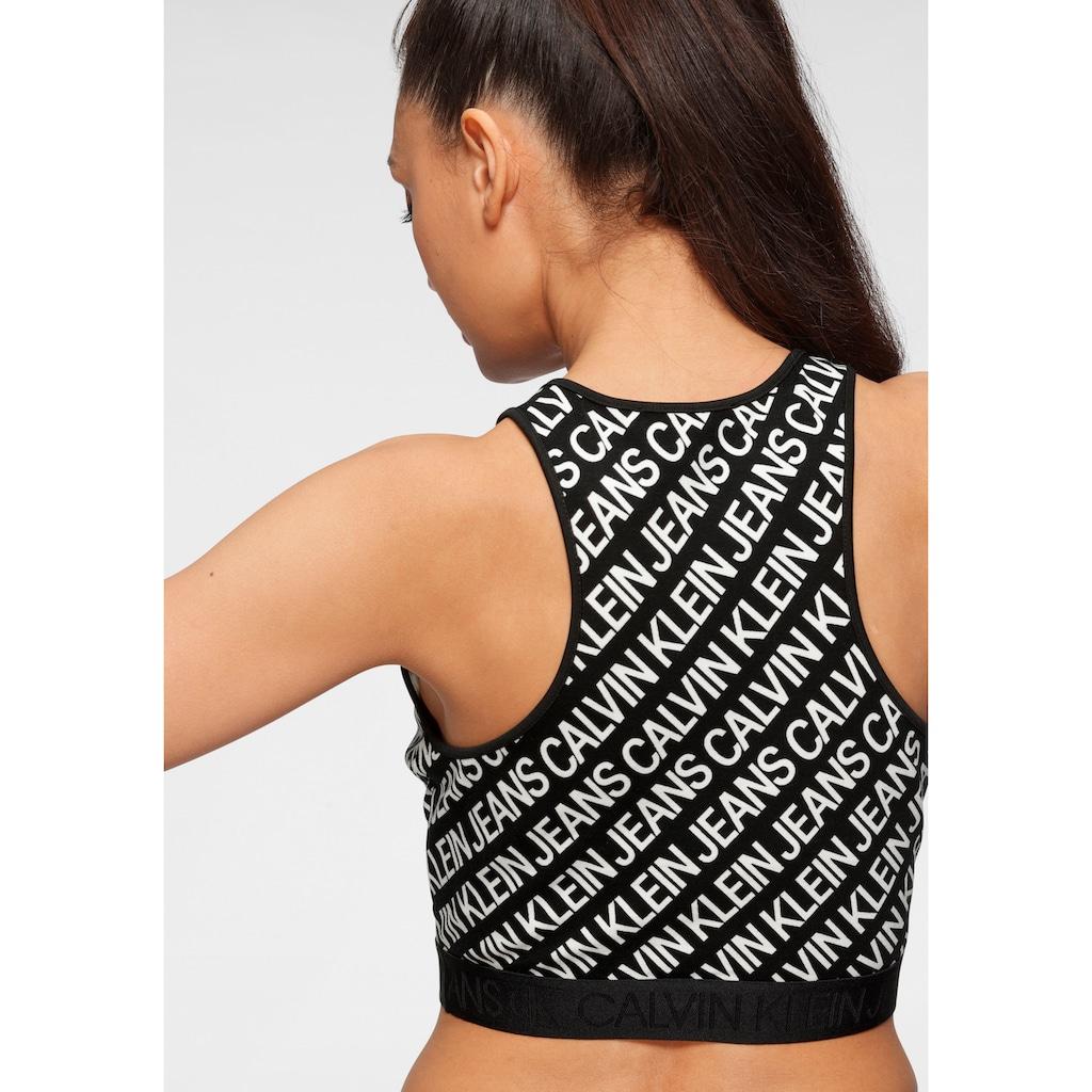Calvin Klein Jeans Crop-Top »MILANO LOGO AOP TANK TOP«, mit Allover-Logoprint