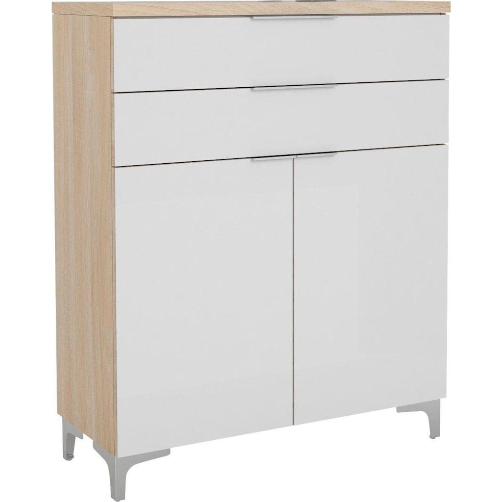 Maja Möbel Schuhschrank »SHINO Garderobe«, 2 höhenverstellbare Einlegeböden, passend für mind. 9 Paar Schuhe, Schubladen auf Unterflurauszügen mit Selbsteinzug und Filzeinlage