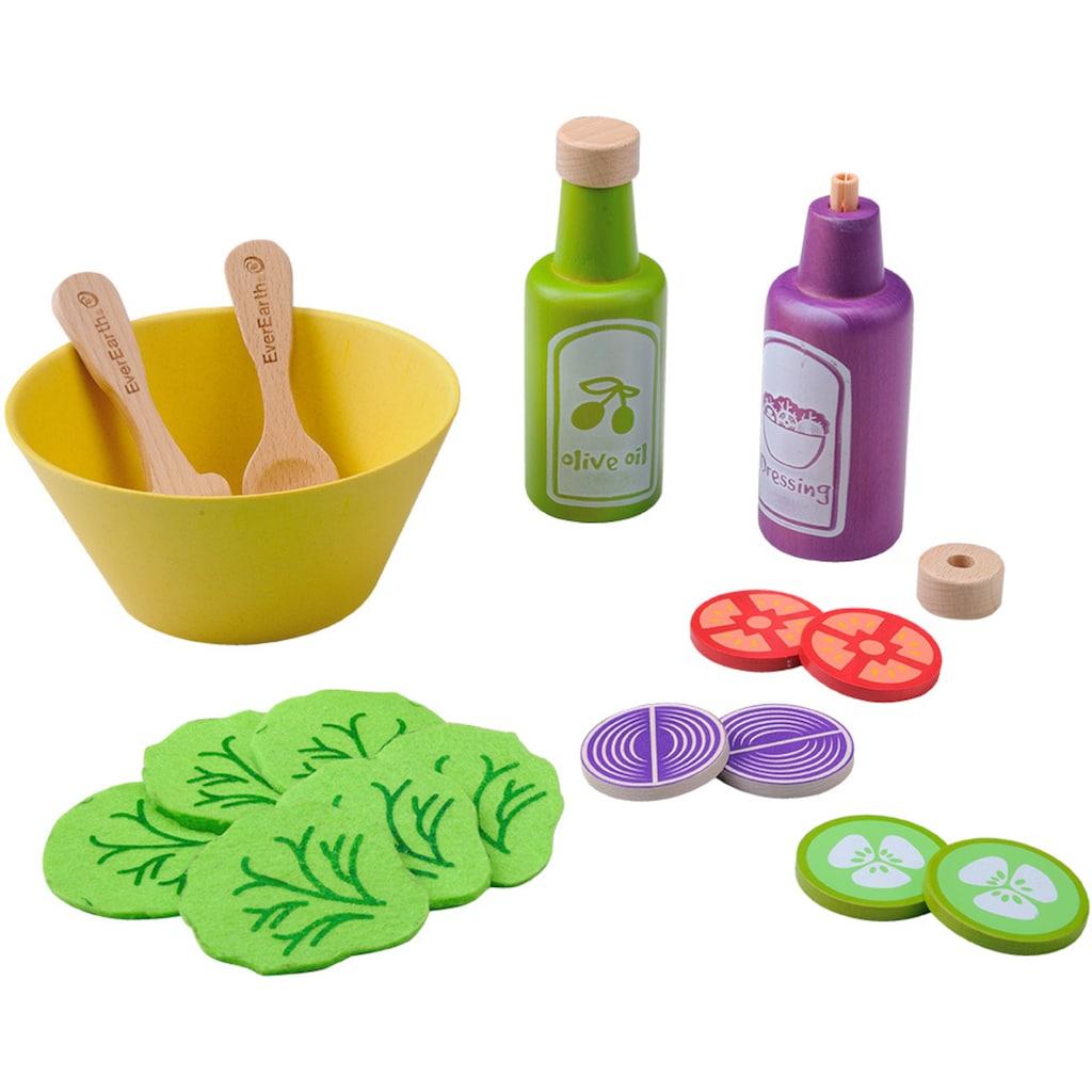 EverEarth® Spiellebensmittel »Salatset«, FSC®-Holz aus gewissenhaft bewirtschafteten Wäldern