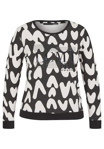 LeComte Langarmshirt, mit abstraktem Allover-Muster und Glitzersteinen kaufen